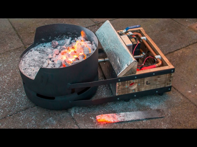 Homemade Portable DIY Blacksmiths Forge