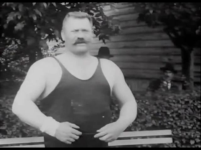 Иван Поддубный из лучших Мира (Российская империя; Кинохроника 1912 года)