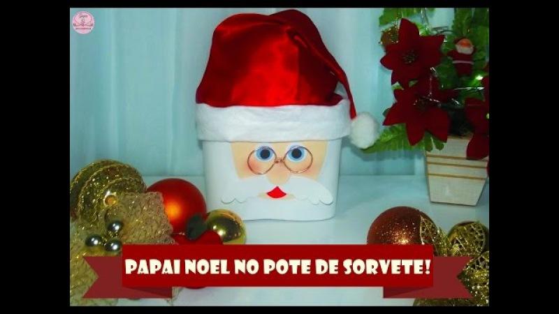 Papai noel no pote de sorvete (Natal) Gagu Ref. 02