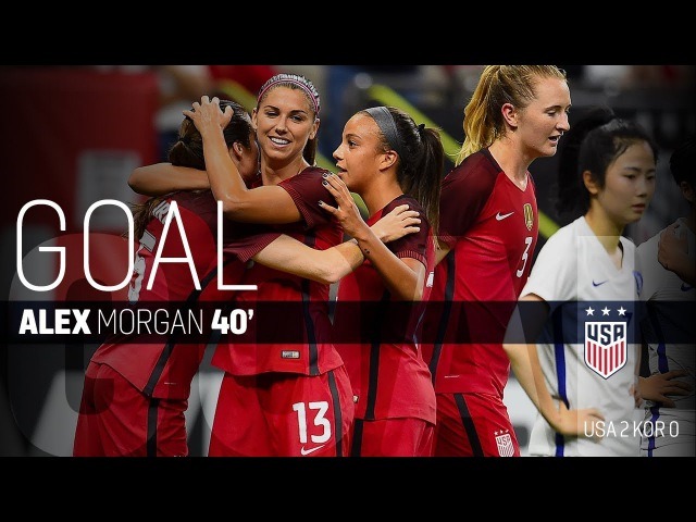 WNT vs. Korea Republic: Alex Morgan's Goal - Oct. 19, 2017