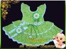 Ажурное Платье Крючком для Девочки 2018 Openwork Crochet for Girl Durchbrochenes Kleid Haken