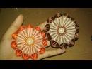 DIY Cara Membuat Bros Bunga Galau Kanzashi Flower 09 🌸 Lista Tsurayya Tutorial