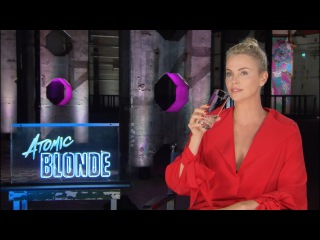 Charlize Theron has a cocktail with Scott Carty - ATOMIC BLONDE