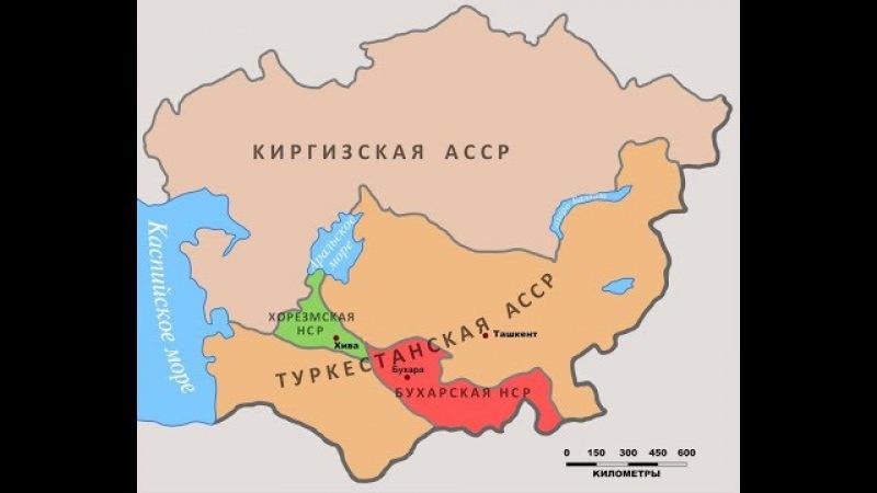 Казахстан(1936) - это бывшая КазаКская АССР(1925) и Киргизская АССР (1920).