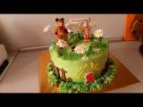 Кремовый торт Маша и Медведь
