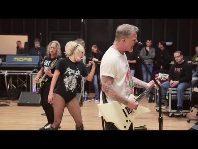 Metallica Lady Gaga: Pre-Grammy Rehearsal