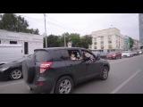 Баба Яга облетела Екатеринбург на ступе