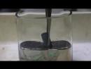 Эксперимент погружения в ртуть стальных деталей и уранового стержня