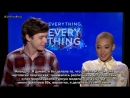 Everything Everything Stars Amandla Stenberg x Nick Robinson On Dating in The Digital World Rus(sub)