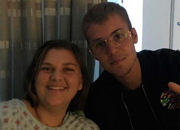 Джастин Бибер навестил своих поклонников в госпитале