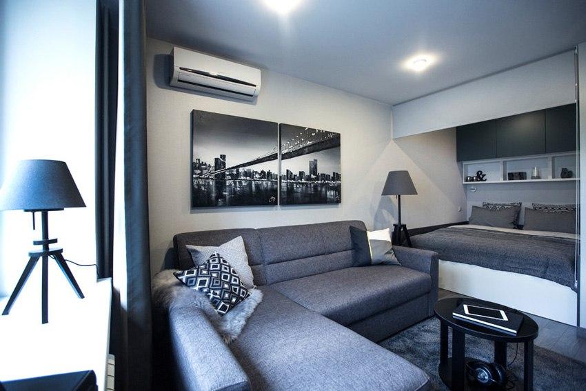Квартира-студия 29 м в Москве для молодого мужчины.