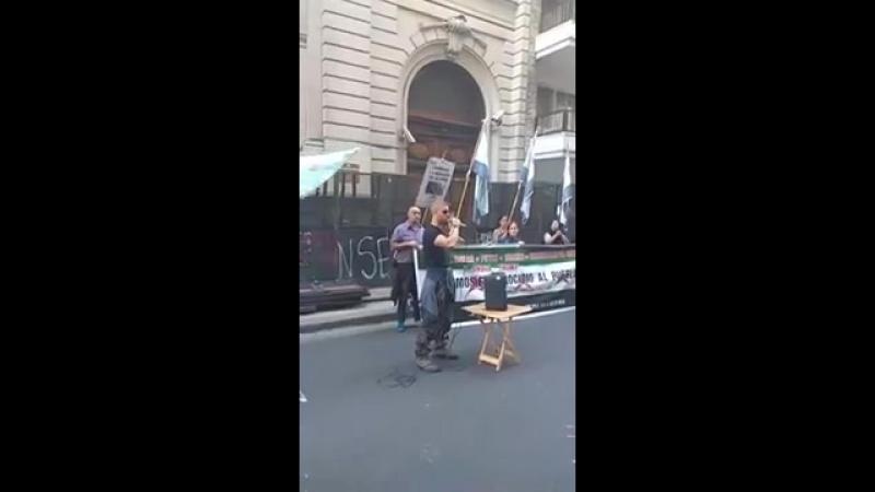 Выступление товарища Абу Муада (Хосе Пьяджесси) на митинге в интернациональный Сирийский День Гнева 14.10.2017 (Аргентина)