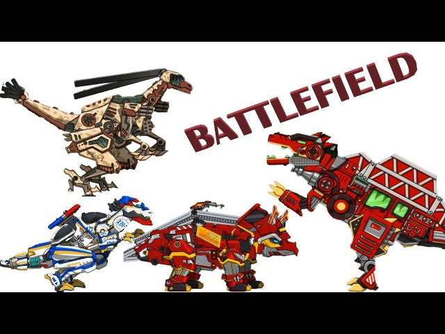 Dino Robot Spinosaurus Plus - Fire engine Assembly Battlefield (Dino Robot Games)