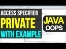 09 Java Private Access Specifiers | Object Oriented Programming Video Tutorials