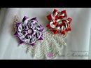 Нарядные резиночки из лент 4! Elegant bands of ribbon!