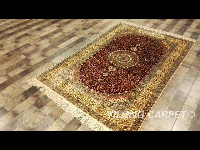 Silk Persian Carpet Oriental Handmade Rug