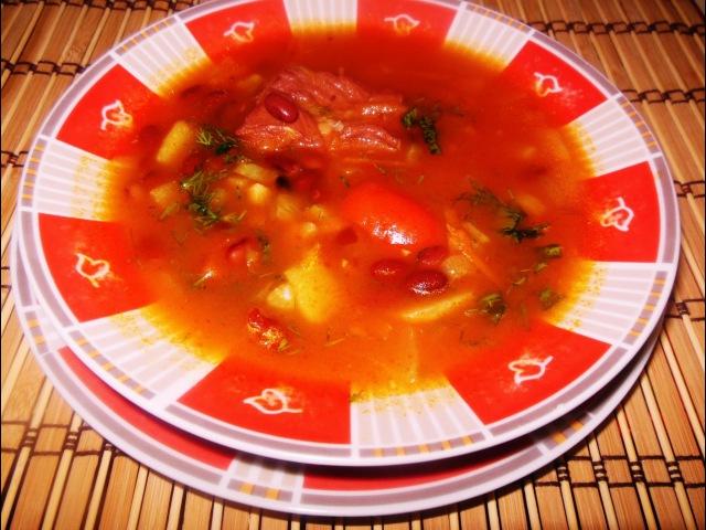 Суп с Фасолью и Свиными Ребрышками. Острый Супчик из Фасоли