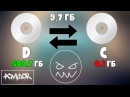 Как переместить память с диска D на диск C Windows