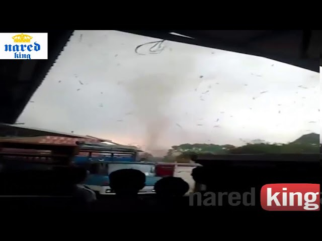Tornado in Bandung Indonesia 17 Nov 2017