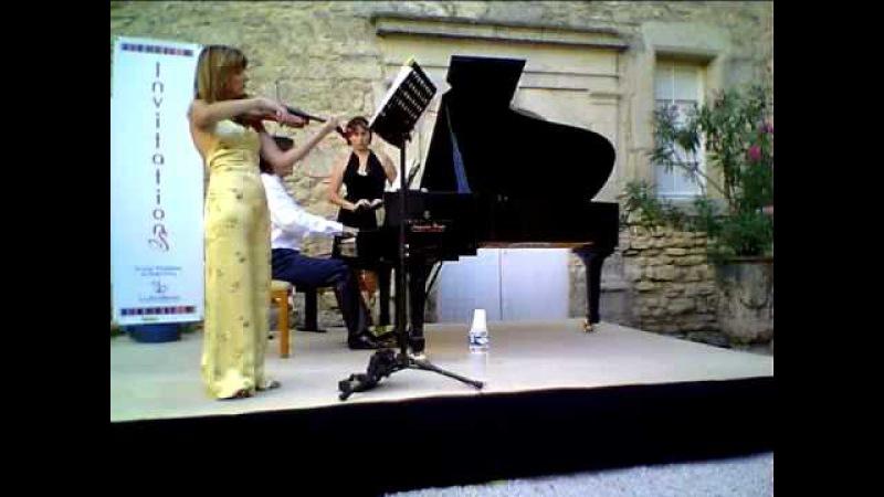 BRAHMS sonate opus 78 pour violon et piano (3/3) agnès Pyka et ludovic Selmi
