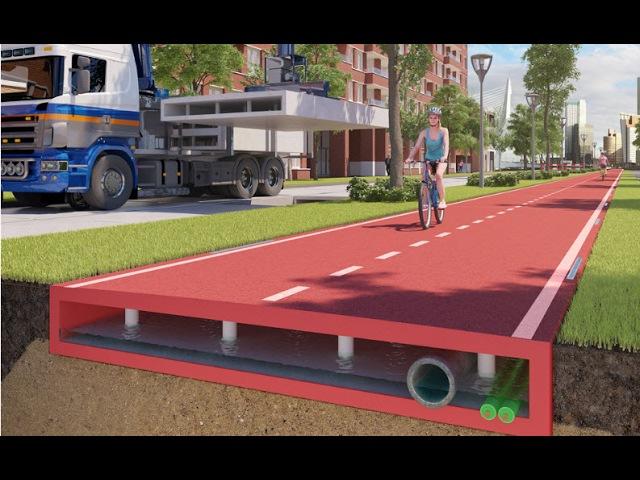 Building the Future roads Plastic Roadways