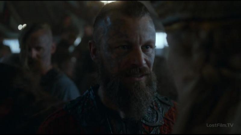 Сериал Викинги. Разговор Харальда Прекрасноволосого и принцесси Элисиф.