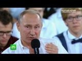 Оцензуре, Интернете и«группах смерти»: Путин ответил на вопрос пользователей «ВКонтакте»