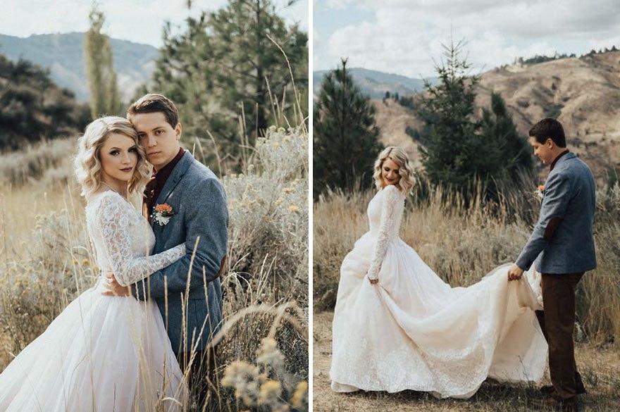 i UXo6zH9yk - Она надела на свадьбу подвенечное платье своей бабушки