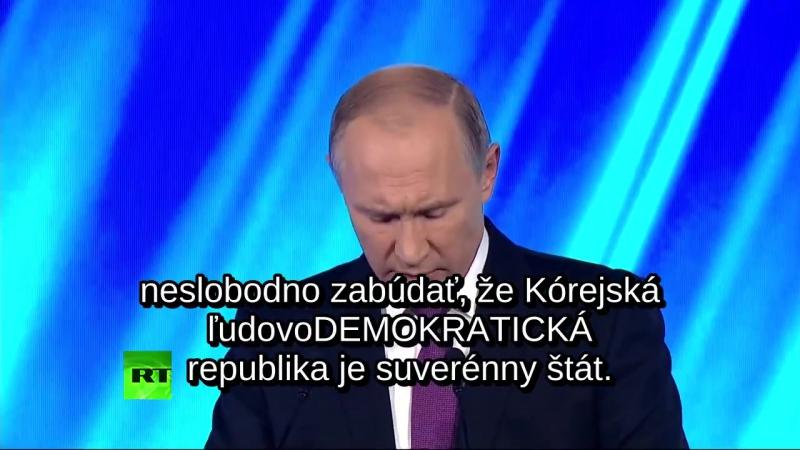 Vladimír Putin na Valdajskom diskusnom klube 2017 (titulky)