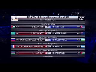 (1/8 финала)91kg: Djamilli-Dini Aboudou-Moindze(FRA) vs. Dirk Wells (NCA)|Mahammadrasul Majidov (AZE) vs. Hussein Iashaish (JOR)