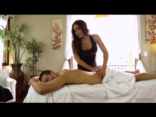 [ts massage 3] tori mayes & gabriel dalessandro - don't be nervous [2017, transsexuals, shemale, anal, hardcore, 720p]