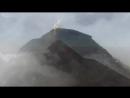 Извержение вулкана, съемка с дрона