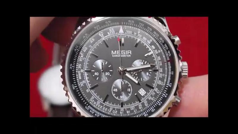Наручные мужские часы Megir Aviator Chronomet