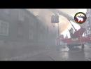 Тушение пожара на улице Зеленой в Мурманске