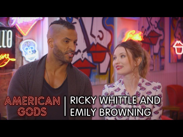 Behind the Scenes with Ricky Whittle and Emily Browning | American Gods