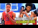 Marvin Bagley III vs Shareef O'Neal! Sierra Canyon vs Crossroads League Championship Highlights!!