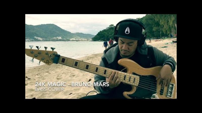Bruno Mars - 24K Magic / Live on Skavlan (bass cover by Angga)