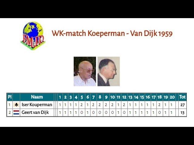 WK-match Koeperman - Van Dijk 1959