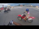 12 year old wheelies a Wr250r Scrapes the Fender