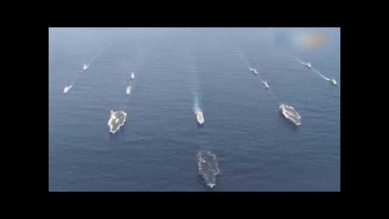 Видео из Тихого океана: Группа авианосцев ВМС США подошла к берегам Кореи