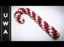 How to make a Paracord Candy Cane Christmas Ornament 2016 (Round Crown Sinnet) [UWA ORIGINAL]