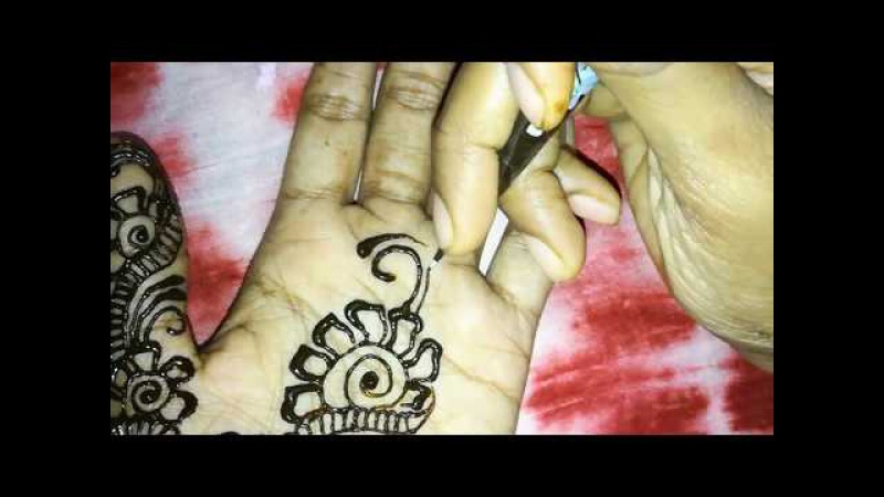 Unique stylish latest easy simple mehndi designs step by step tutorials 2017-2018