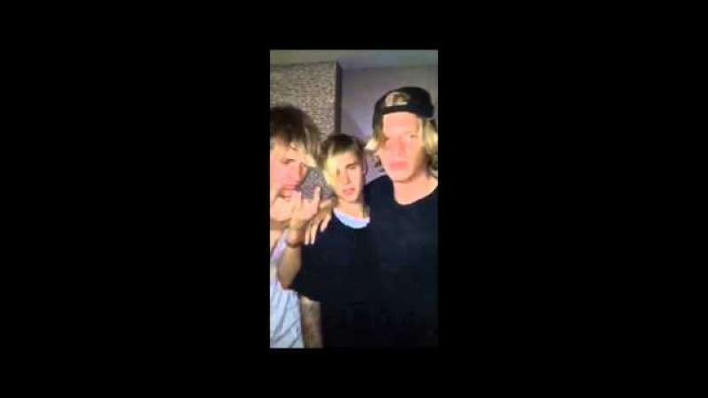 Justin Bieber Cody Simpson: it's not a phase mom - snapchat, Los Angeles, California, June 6, 2015