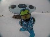 Каникулы на сноубордах. Домбай. Салют и Снег