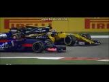 Formula 1 2017 Bahrain G.P. D. Kvyat vs F. Alonso vs J. Palmer