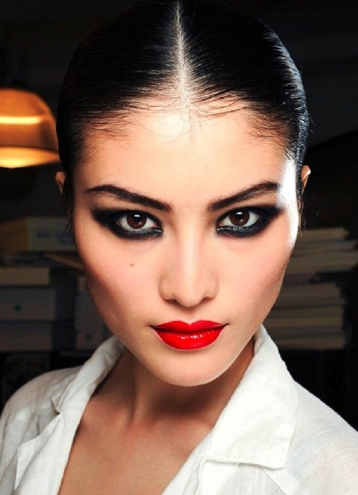 Вечерний макияж для азиаток
