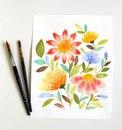 Цветы акварелью за 15 минут