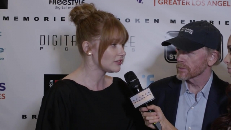 Bryce Dallas Howard and Ron Howard at the BROKEN MEMORIES premiere