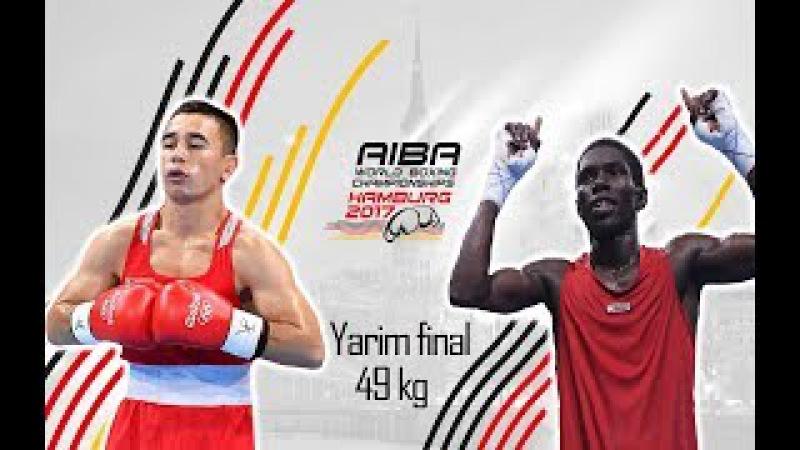 Boks. Jahon chempionati. Yarim final. 49 kg. Hasanboy Do'smatov vs Yuberxen Martines