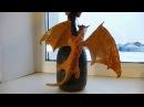 Декупаж бутылки Башня Дракона / Decoupage bottles Dragon Tower